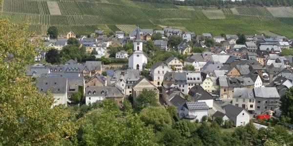 Blick auf de Ortsteil Maring