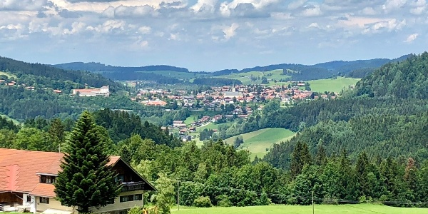 Panoramablick auf Oberstaufen