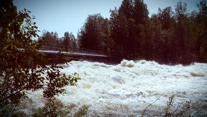 Ämmänkoski Rapids in Varkaus