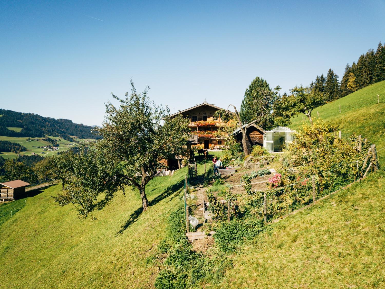 Bauernhof mit großem Garten