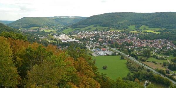 Ausblick vom Gotthard auf Amorbach
