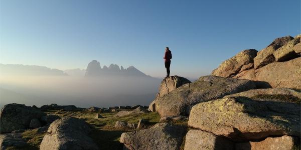 Enjoy the beautiful view of the Sassolungo