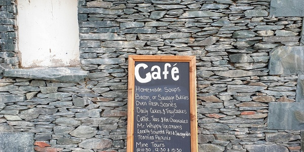 Grab a coffee and bite to eat as you pass by Honnister Slate Mine