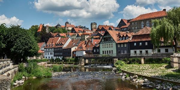 Die Kronacher Altstadt mit der Festung Rosenberg