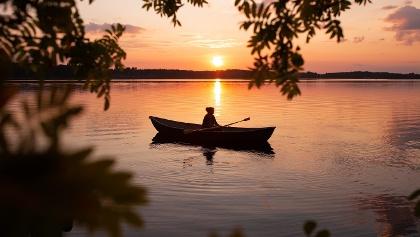 Ruderboot auf der Finnischen Seenplatte