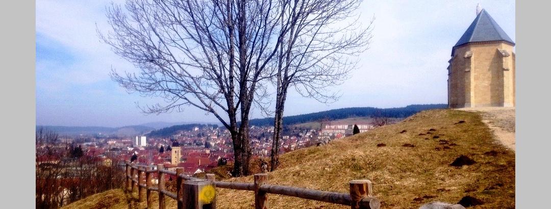 Vista di Pontarlier dalla Cappella Du Buis