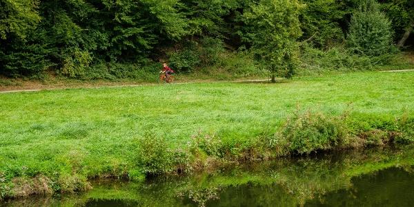 Unterwegs auf dem Nagoldtal-Radweg direkt am Fluss