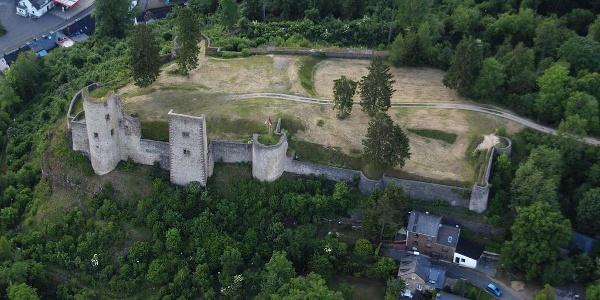 Luftaufnahme Burgruine Schönecken