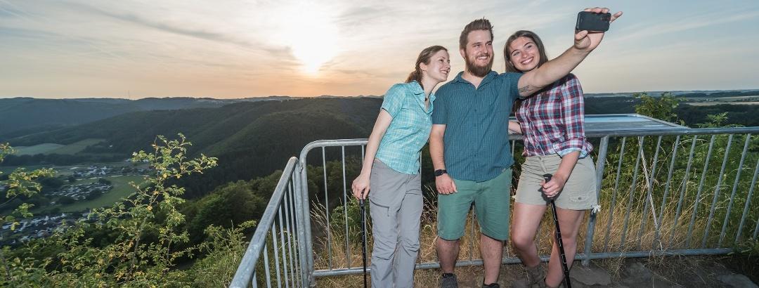 Selfie auf dem Gipfel des Roßbacher Häubchen
