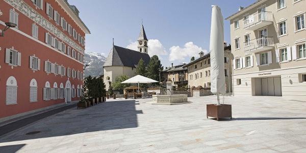 Dorfplatz von Silvaplana