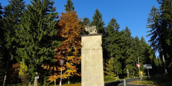 Hirsch-Monument am Bohrstuhl