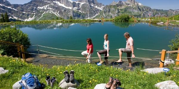 Tickle path around Lake Härzlisee
