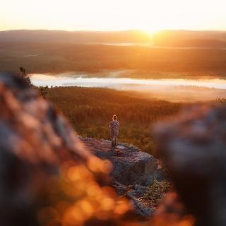 Keskiyön aurinko Lapissa