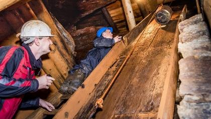 Radpumpe im Besucherbergwerk Zinngrube Ehrenfriedersdorf