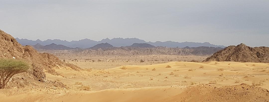 Wenn Gebirge und Wüste ineinander übergehen. Hier einige Kilometer östlich von Buraimi