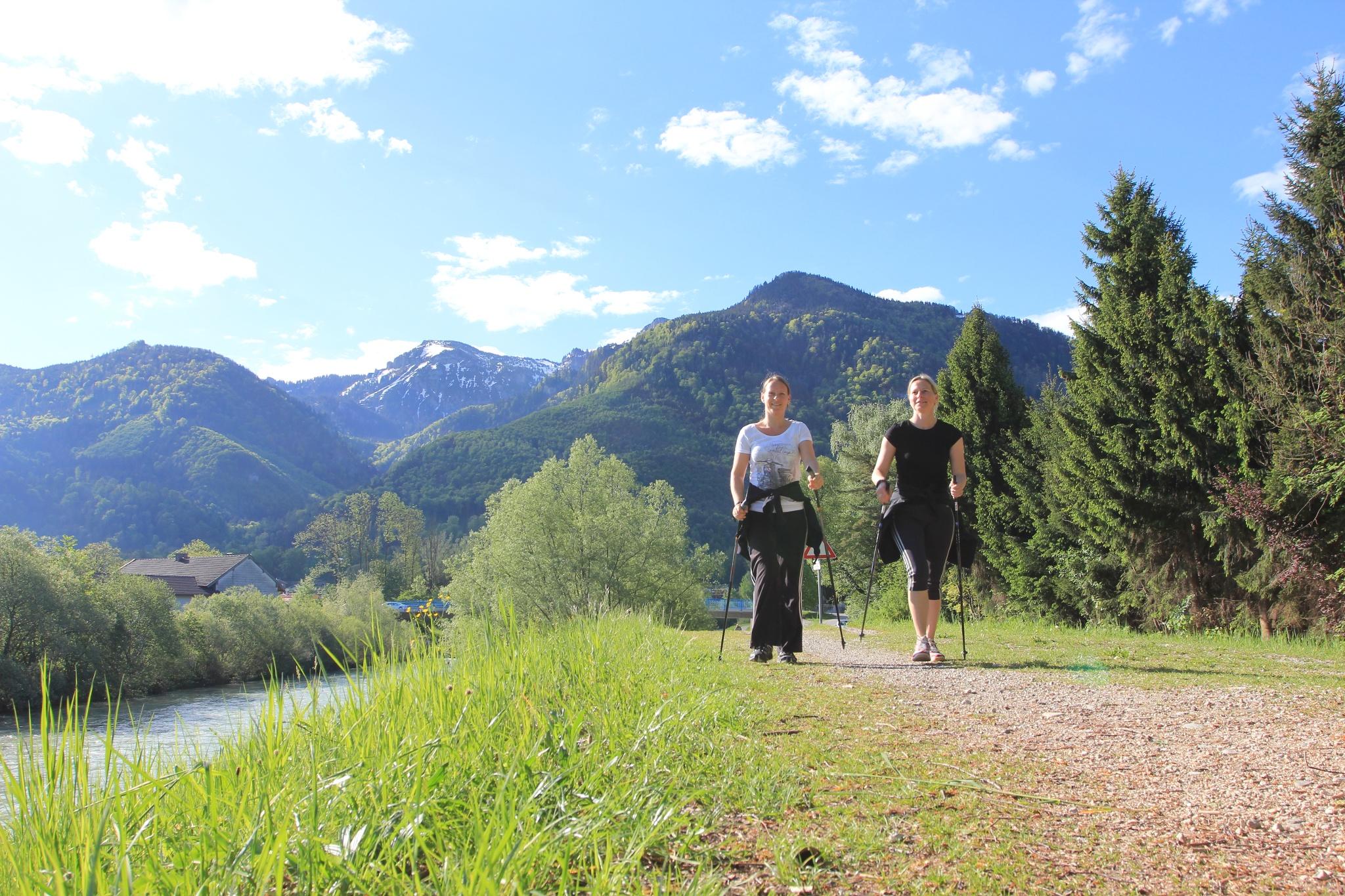 Nordic Walking an der Tiroler Ache