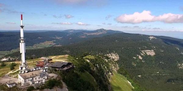 Vue aérienne sur le Col de la Faucille