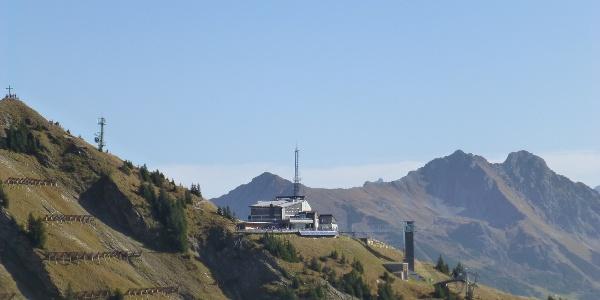 Bergstation Walmendinger Horn Bahn im Sommer