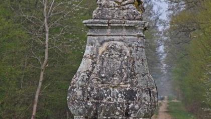 Colonne de grès au carrefour de l'Etoile - Forêt de Traconne