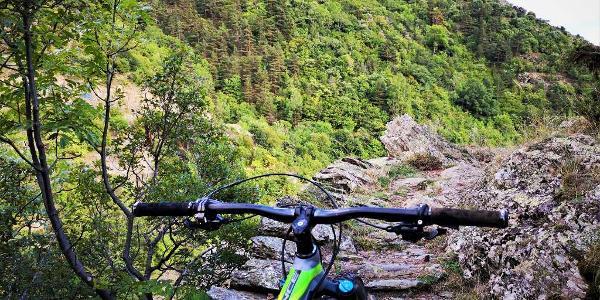 Vtt technique de Ria au Col de Portus et descente du Cami Ramader d'Evol