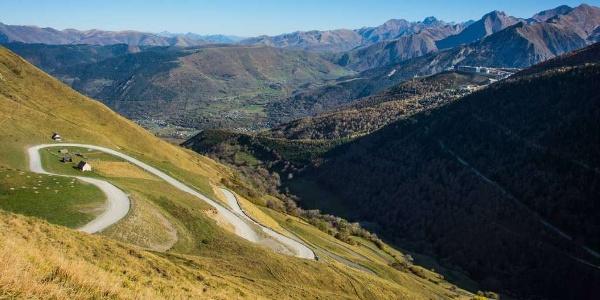 Le col du Portet depuis Saint-Lary Soulan