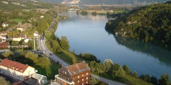 Le Rhône et le musée Escale Haut-Rhône