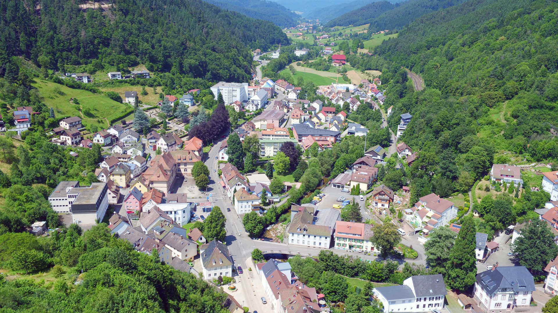 Blick vom Schlossberg Richtung Gutach