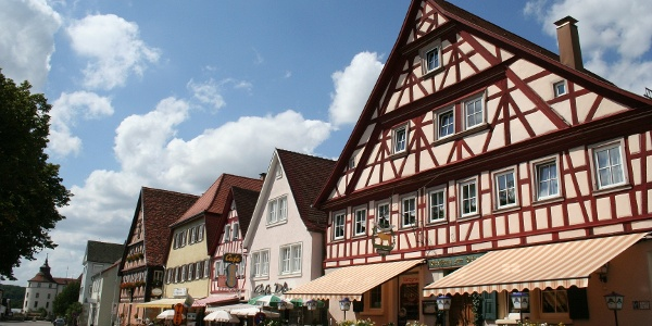 Schlossgarten Langenburg - hier kann man den Blick ins Jagsttal genießen