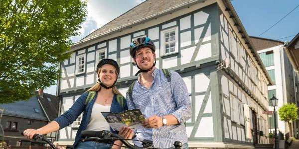 Radfahrer in Hachenburg