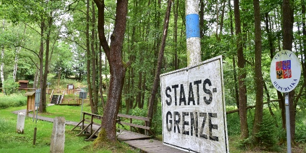 Staatsgrenze Tschechische Republik - Bundesrepublik Deutschland im Dreiländereck Sachsen-Bayern-Böhmen
