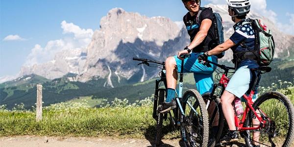 Giro delle Malge sull' Alpe di Siusi con variante Denti di Terrarossa