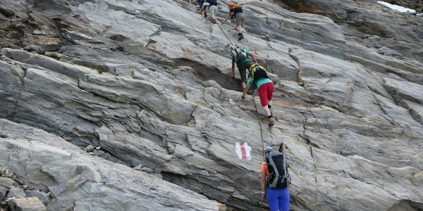 Kletterpartie vor der Furggubäumlicke