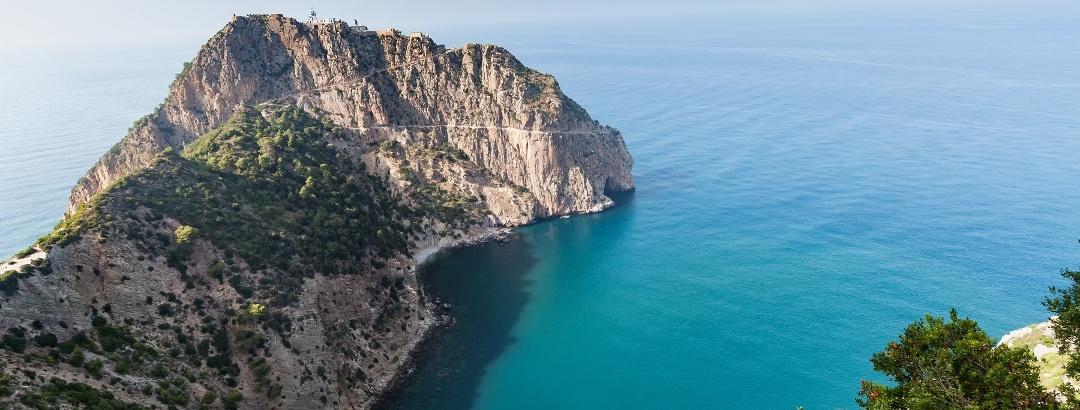 Mediterranean coastline in Bejaia
