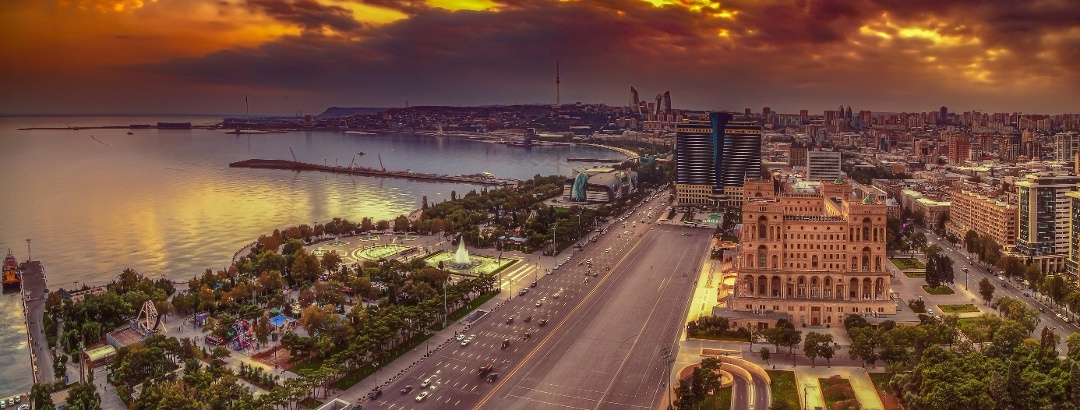 View to the capital Baku