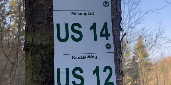Markierungszeichen Frankenwald