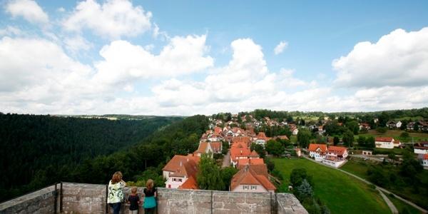Aussicht von der Burgruine Zavelstein