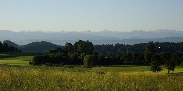 Blick in die Alpen
