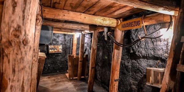Stollen im Vogtländischen Bergbaumuseum