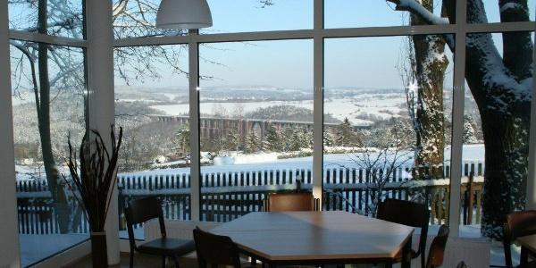 AWO Schullandheim Netzschkau Ausblick Winter