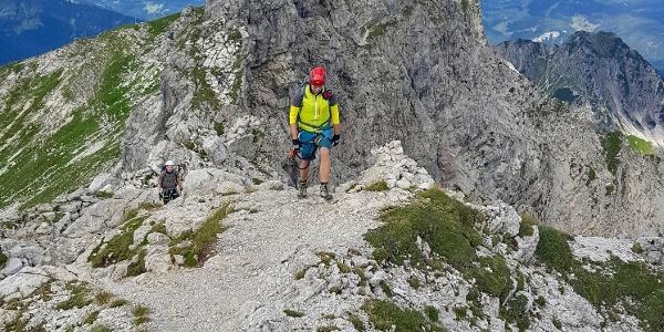 Unterwegs im Hindelanger Klettersteig