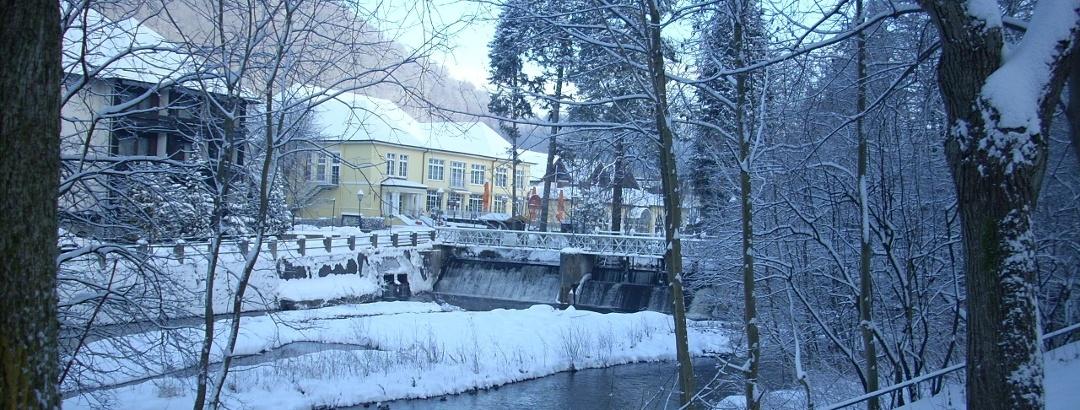 Kurpark und Wanderwege im Winter