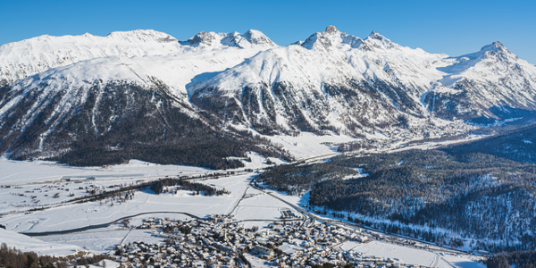 Aussicht vom Winterwanderweg Marguns - Chantarella