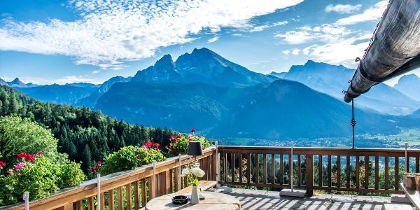 Terrasse mit Watzmannblick