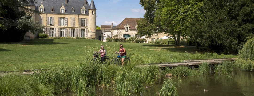 Balade vélo autour du Château de Théméricourt (Val d'Oise)