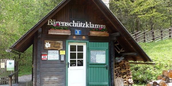 Bärenschützklamm, Hans Kerl-Hütte, Kassierhäuschen