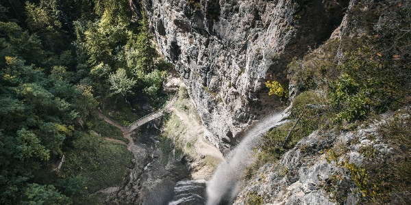 Cascata di Tret Wasserfall Deutschnonsberg Trentino
