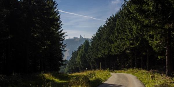 Stümpelweg mit Blick Richtung Fichtelberg