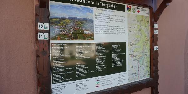Wandertafel Tiergarten
