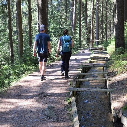 Turistická stezka podél příkopu Röhrgraben