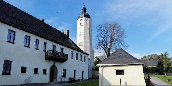 Treppenturm in Rößnitz / Vogtland